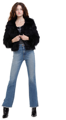 Alice + Olivia Fawn Fur Jacket