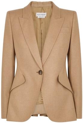 Alexander McQueen Camel Wool Blazer