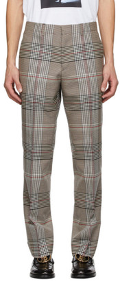 Burberry Beige Plaid Slim Trousers