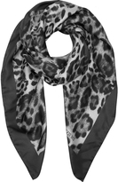 Forzieri Animal Print Twill Silk Square Scarf