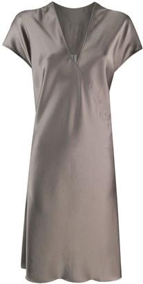 Rick Owens Geometric Line Midi Dress