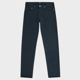 Paul Smith Men's Tapered-Fit Washed Grey Garment-Dyed Jeans