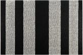 Chilewich Large Stripe Shag Rug - Black/White - 61x91cm
