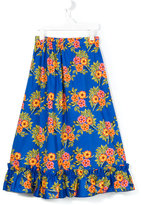 MSGM floral print skirt - kids - Cotton/Elastodiene - 4 yrs