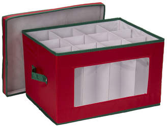 Household Essentials Holiday Stemware Goblet Storage Box