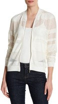 Laundry by Shelli Segal Chevron Bomber Jacket