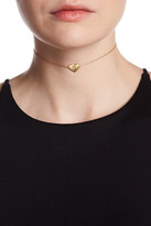 Argentovivo 18K Yellow Gold Plated Sterling Silver 'G' Initial Chain Choker Necklace