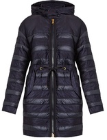 Moncler Scille hooded panelled quilted down coat