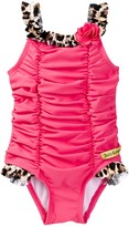 Juicy Couture Ruched One Piece Swimsuit (Baby Girls 12-24M)