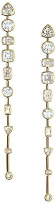 Adriana Orsini 18K Goldplated & Cubic Zirconia Bezel-Set Linear Post Earrings