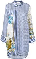 P.A.R.O.S.H. ship print shirt dress - women - Silk - M
