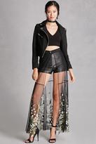 Forever 21 FOREVER 21+ Rehab Embroidered Maxi Skirt
