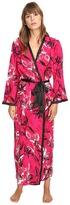 Oscar de la Renta Printed Poly Crepe Long Robe