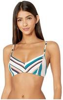Roxy Milady Sand Bralette Swim Top (Mood Indigo Soul Stripes) Women's Swimwear