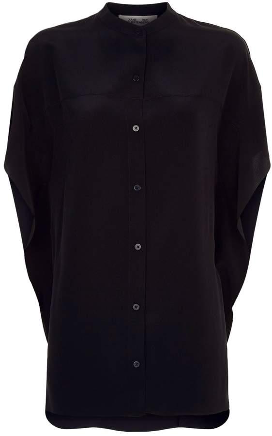 Diane von Furstenberg Sleeveless Button-Down Blouse