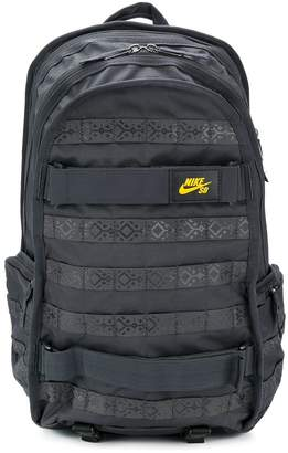 Nike patterned detail logo patch backpack