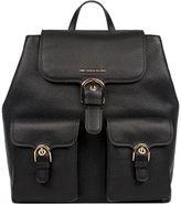 Michael Kors Black Cooper Hammered Leather Backpack