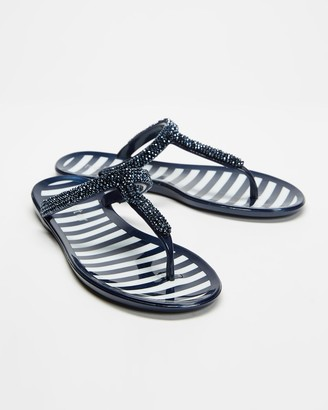 Holster Women's Navy Flat Sandals - North Shore - Size One Size, 11 at The Iconic