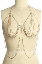 Glamaker Women's Sexy Rhinestones Body Bra Chain Halter Neck Bikini Jewelry Necklace