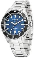 Sector No Limits 235 Men's Quartz Watch with Blue Dial Analogue Display and Silver Stainless Steel Strap R3253161006