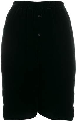 Cecilie Bahnsen velvet scallop hem shorts