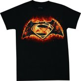 Batman v Superman Flame Logo Men's Shirt