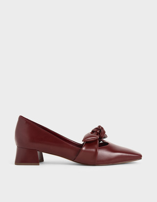 Charles & Keith Knotted Strap Pumps