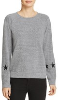 Monrow Star Sleeve Sweatshirt