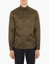 Valentino Khaki Cotton Utility Shirt