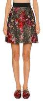 Dolce & Gabbana Metallic Floral Bouquet Jacquard Skirt, Multi