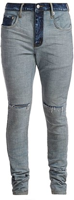 Purple Brand P001 Mid-Rise Reverse Ripped Jeans