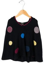 Fendi Girls' Hooded Polka Dot Poncho