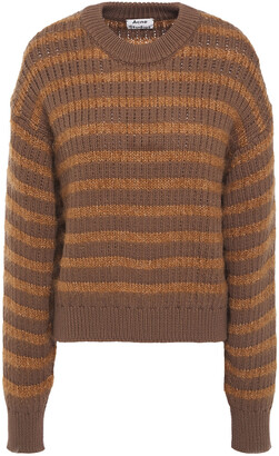 Acne Studios Kristen Striped Ribbed-knit Sweater