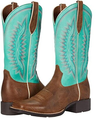 Ariat Quickdraw Legacy (Natural Crunch/Pool Blue) Cowboy Boots