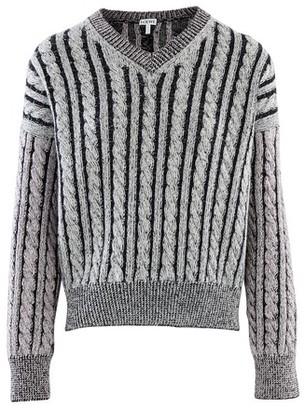 Loewe Wool cable-knit jumper
