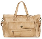Pieces TOTALLY ROYAL LEATHER TRAVEL BAG Nude