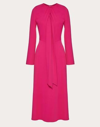Valentino Matte Cady Dress Women Bright Pink Viscose 54%, Acetate 46% 40