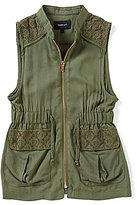 Takara Big Girls 7-16 Crochet Detail Utility Vest