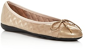Paul Mayer Women's Best Brighton Quilted Cap Toe Ballet Flats