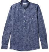 Richard James Grandad-collar Patterned Linen Shirt