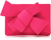 DELPOZO M'O Exclusive Bow Leather Clutch