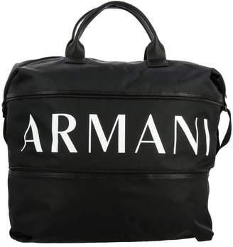 Armani Collezioni Armani Exchange Bags Armani Exchange Gym Nylon Bag With Full Zip With Logo Print
