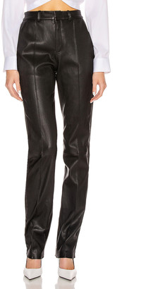 Sprwmn Tailored Pant with Tux Stripe in Black | FWRD