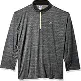Russell Athletic Men's Big and Tall LS 1/4 Streak Poly Jersey with Reflective Trim