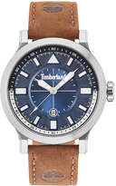 Timberland Men's Driscoll Brown Leather Strap Watch 46mm