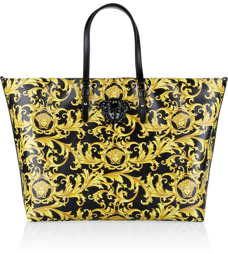 Versace Printed faux leather tote