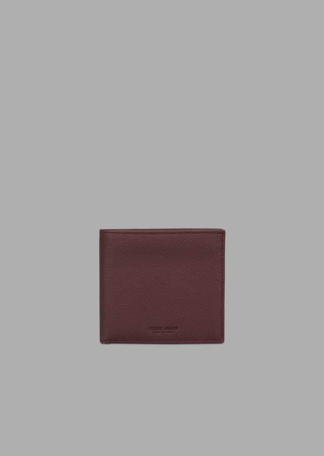 4ad56da63d Bifold Wallet In Grained Calfskin
