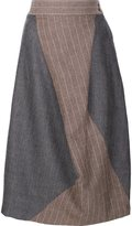 Vivienne Westwood asymmetric pinstripe skirt