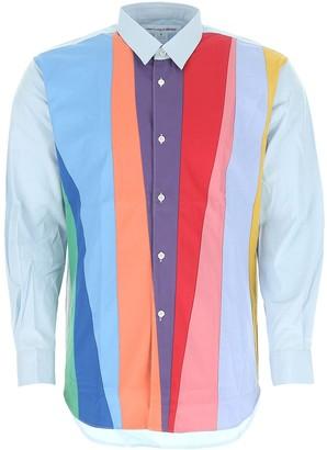 Comme des Garçons Shirt Colour Block Shirt