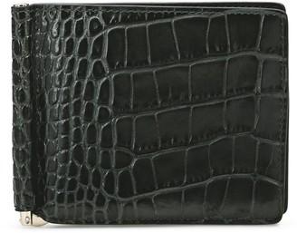 Smythson Croc-Embossed Leather Money Clip Wallet